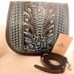 NWT Patricia Nash Turquoise Savini Purse, $175